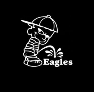 Calvin Piss on Philadelphia Eagles Vinyl Decal Stickers