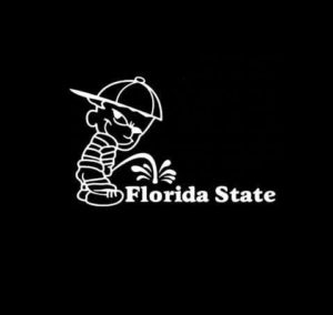 Calvin Piss on Florida State Seminoles Vinyl Decal Stickers