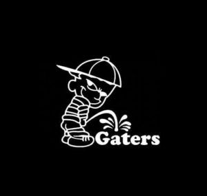 Calvin Piss on Florida Gators Vinyl Decal Stickers