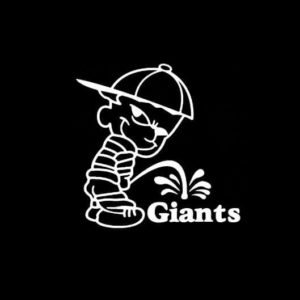 Calvin Piss on New York Giants Vinyl Decal Stickers