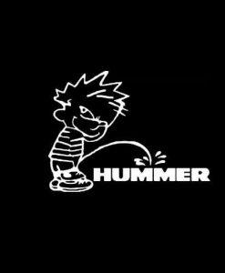 Calvin Piss on Hummer Vinyl Decal Stickers