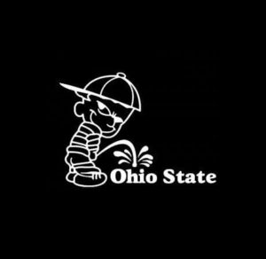 Calvin Piss on Ohio State Buckeyes Vinyl Decal Stickers