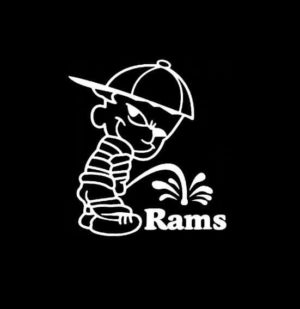 Calvin Piss on St Louis Rams Vinyl Decal Stickers
