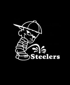 Calvin Piss on Pittsburgh Steelers Vinyl Decal Stickers