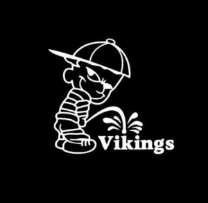 Calvin Piss on Minnesota Vikings Vinyl Decal Stickers