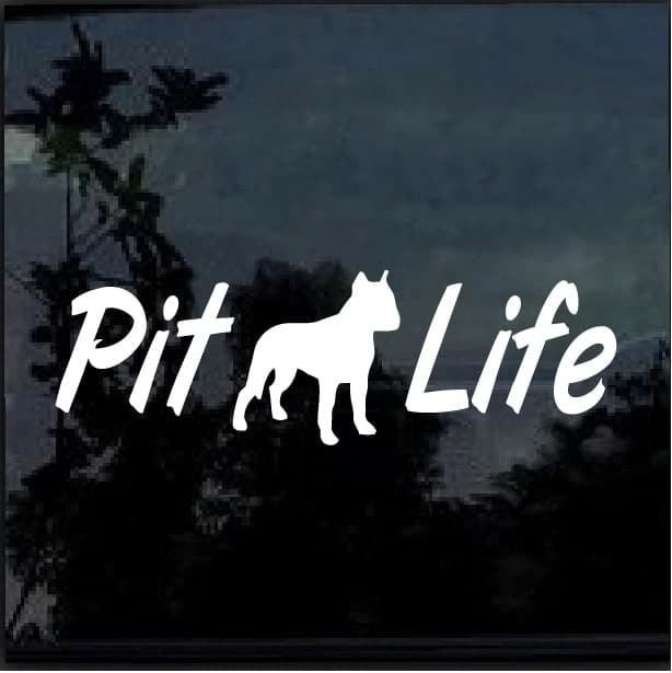 Pitlife Pitbull Pit Bull A5 Decal Dog Stickers Custom