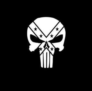 Punisher Rebel Vinyl Decal Stickers