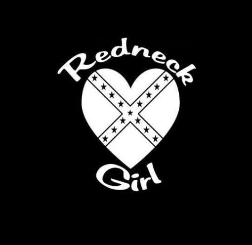 Redneck Girl Heart Vinly Decal Sticker