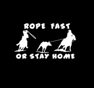 Roping Roper Rodeo Vinyl Decal Stickers