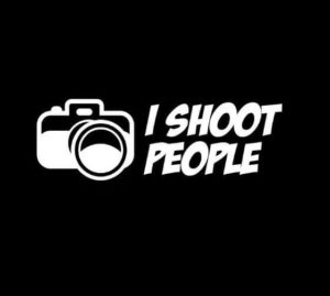 I shoot People Photography Photographer Decal Stickers