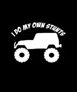 I do my own Stunts Jeep Vinyl Decal Stickers