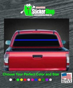 thin blue line back the blue rear window decal sticker