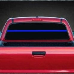 thin blue line back the blue rear window decal sticker