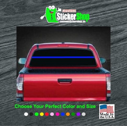 Thin Blue Line Rear Window Decal Sticker - Rear window decals for trucks canada