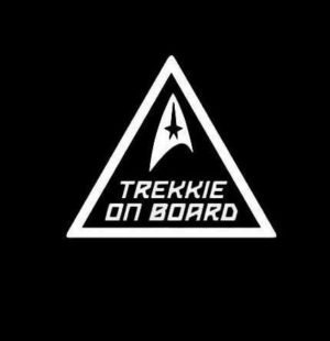 Trekkie On Board Star Trek Vinyl Decal Stickers