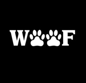 Woof Dog Paws Vinyl Decal Stickers