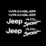 Jeep wrangler 4.0 Sport Fender Set of 2 Jeep Decal Stickers