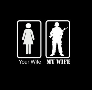 your wife my wife soldier II window decal sticker