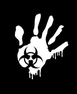 Zombie Hand Biohazard Vinyl Decal Stickers