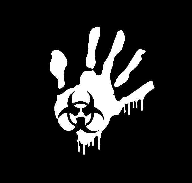 Zombie Hand Biohazard Decal Stickerss – Custom Sticker Shop
