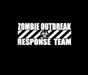 Zombie Outbreak Response Team Decal Stickers a6