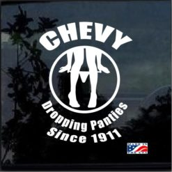 Chevy panty dropper window decal sticker