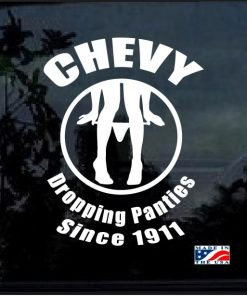 Chevy panty dropper window decal sticker