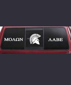 Molon Labe Spartan Sliding Rear Window Decal Sticker
