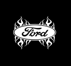 Ford Flames flaming Vinyl Decal Stickers
