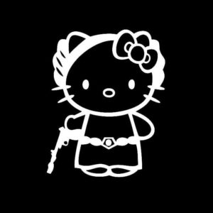 Hello Kitty Princess Leia Vinyl Decal Sticker