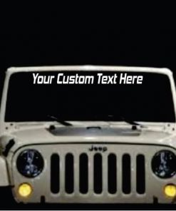 Windshield Banner - Custom Text - Decal Sticker