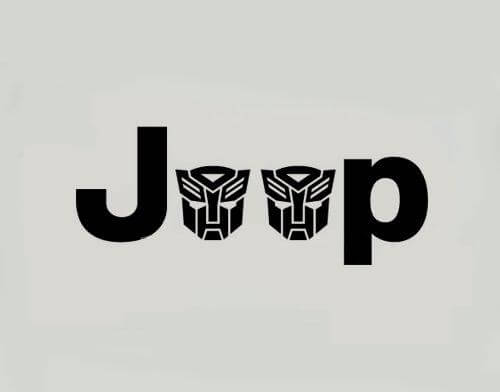 Jeep Wrangler Side Fender Decal set of 2 Autobots