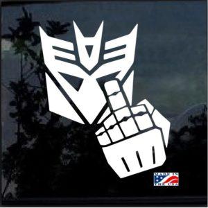 autobots f you window decal sticker