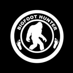 Bigfoot Sasquatch Hunter Vinyl Decal Sticker