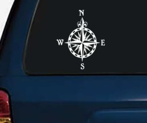 Compass Rose Vinyl Decal Stickers