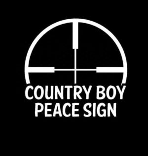 Country Boy Peace Sign Vinyl Decal Sticker