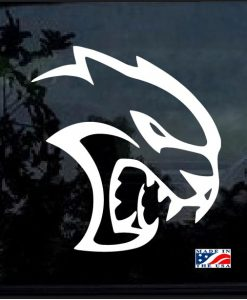 dodge srt hellcat window decal sticker