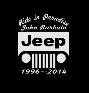 In loving Memory Jeep Decal Sticker