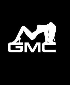 GMC Mudflap Girl Vinyl Decal Stickers a2