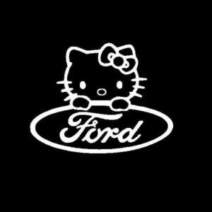 Hello Kitty Ford Vinyl Decal Stickers