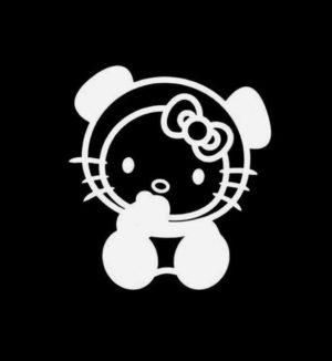 Hello Kitty Panda Vinyl Decal Sticker