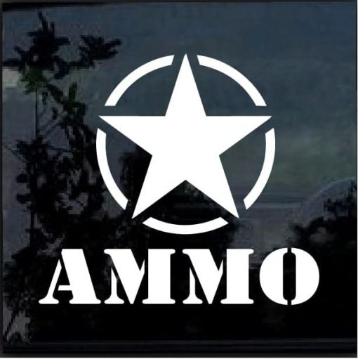 jeep ammo star decal stickers