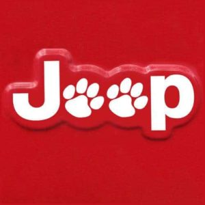 Jeep Wrangler Side Fender Decal set of 2 Dog Paws