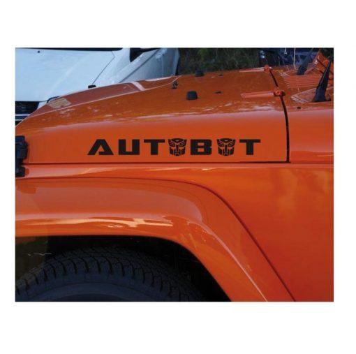 jeep hood transformers autobot Decal sticker