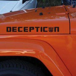 Jeep Wrangler Transformers Decepticon Hood Set Vinyl Decal Sticker