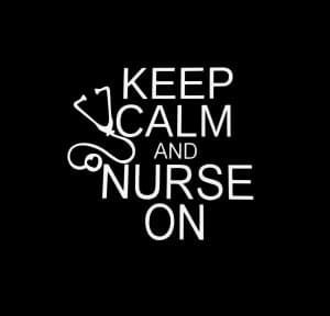 Keep Calm and Nurse on Vinyl Decal Stickers a3