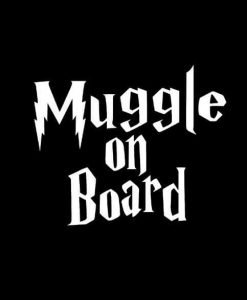 Baby Muggle On Board Harry Potter Vinyl Decal Stickers