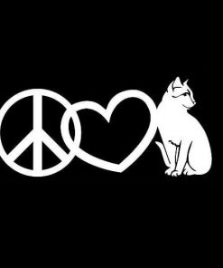Peace Love Cats Vinyl Decal Stickers a2