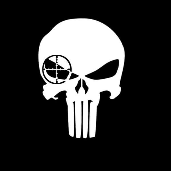 Punisher Sniper Vinyl Decal Stickers