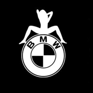 BMW Sexy Girl Vinyl Decal Sticker
